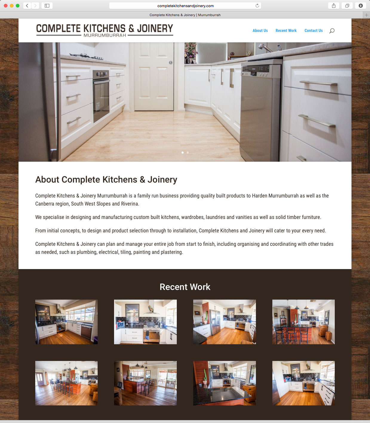 portfolio grange creative complete kitchens joinery website